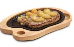 びっくりドンキー「パインバーグステーキ」